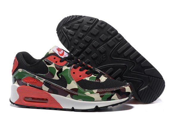 Men's Cheap Air Max 90 Shoes Green/red black